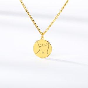 Pendant Necklaces Metalen Kraag Rvs Aangepaste Ronde Plaat Ketting Vrouwelijke Gepersonaliseerde Hanger Voor Vrouwen Sieraden Accessoires