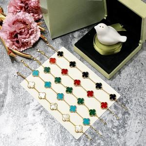 2020 Moda 18k altın / gümüş Hediye Renkli Shell Kadınlar Moda Takı Aksesuar 5 çiçek bilezik kaplama