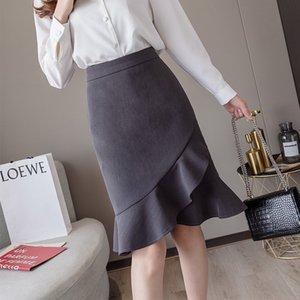 d9rfQ VVa58 Xiaoyangjia Les femmes irrégulières Xiaoyang Jialu jupe à la mode de robe de mode 2020 début de l'automne nouvelle mode haute Fisht robe taille
