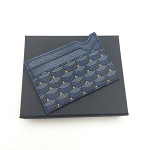 Mode Hommes Femmes de haute qualité Porte-cartes de crédit classique pour hommes Mini Bank Card Holder Petit portefeuille Slim Real Leather Portefeuilles Wtih Box