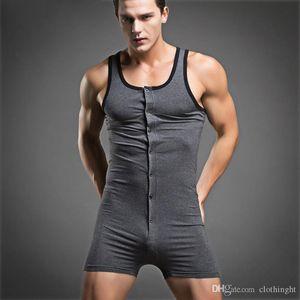 cloth A Hot 2019 Hot mens sleepwear one-piece cotton underwear men compression sleeveless quick dry sexy body shaper male set