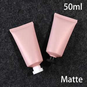 Бесплатная доставка 50мл Матовый розовый Пластиковые бутылки крем 50г Слейте Cosmetic выжимать Soft Tube Frost лица лосьон Пакет 30шт T200819