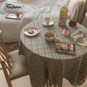 FSISLOVER Corée PlainTable Tissu en coton Nappe Photographie Backdrops Table à manger couverture de pique-nique Chic Corée Tablecloth