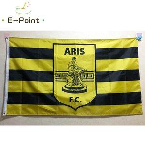 Двухсторонний Греция Арис Фессалоники Flag 3 * 5 футов (90см * 150см) Полиэстер флаг Баннер украшение летающего флаг дома сада Праздничные подарки