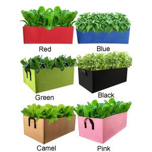 غير المنسوجة صديق للبيئة مستطيلة زراعة حقيبة تنمو حقيبة زهرة الخضروات زراعة الفاكهة حقيبة حديقة الأسرة زراعة اكسسوارات CY BH1858