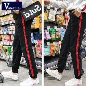 Kadınlar Pants 2019 İlkbahar Yaz Moda Yeni Stil Kore versiyonu kadın İnce kesit Yüksek Bel Casual spor pantolon CX200817 Çizgili yazdır