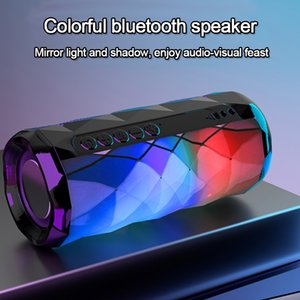 Portable bluetooth speaker tg167 bass color cool polygonal design waterproof wireless speaker, high-definition noise reduction,