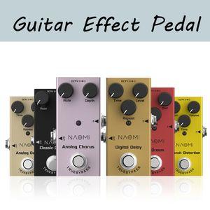 NAOMI efectos de guitarra pedal de distorsión / Delay / Chorus Efectos de guitarra pedal Bypass verdadero DC 9V
