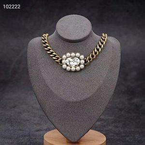 2020 nuovo stile retrò collana semplice del partito gioielli accessori di alta qualità collana di perle catena di Sant'Antonio di spessore selvatici moda regalo