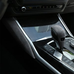 Alcantara Car Decoration Accessory Gear Shift Knob Lever Cover Gear Side Panel Sticker for BMW 325li 325i G20 G28 3 Series 2020~