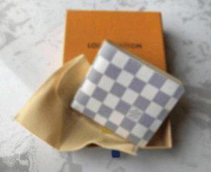el envío 2020 nueva bolsa libre billetera carpeta del diseñador de alta calidad de la tela escocesa de los hombres de las mujeres del modelo de cartera puros de gama alta con la caja s 118
