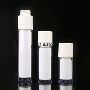 50pcs 15 30 50ml White Empty Lotion Bottles Portable Travel Pump Bottle Cosmetics Dispenser Container Refillable Bottles F3514
