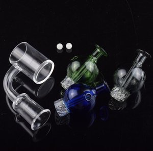 DHL Latest 25mm Quartz Enail Banger nail 4mm thick Bottom with Cyclone Riptide Spinning Carb Cap Terp Pearl For oil rig Glass Bong