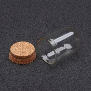 Garrafas de vidro 100pcs Limpar forma de coluna, com Tampions para Jóias Bead caixa de armazenamento, Decoração Jars Atacado 36.5x22mm F60 MX200810