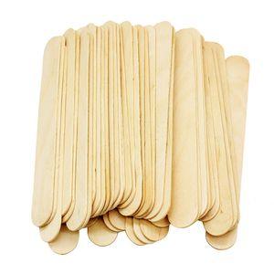 50PCS / الكثير المتاح الصبح اللسان الخشبي إزالة خافض شعر الجسم عصا اللسان المثبط لطخة أداة 0173