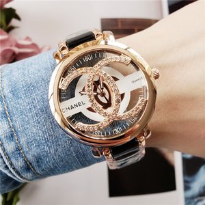 Reloj de mujer de la moda nuevo reloj de las mujeres llena de diamantes simples señoras digitales de vestir de cuero de lujo para mujer del reloj de oro rosa relojes de pulsera