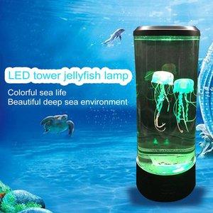 Cgjxs Led Tower медузы лампы Night Light Изменение ночники Usb Super Power Saving аквариум Домашнее украшение Lamp Новый