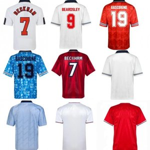 England Retro Soccer Jerseys Hommes 1980 89 90 92 94 98 Chemise de football rétro Camisetas de Fútbol rétro Jersey Classic Shirts Vintage Football