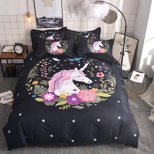3D Cute Unicorn Bedding set Duvet cover and pillowcases EU   AU  US size for girls fdgdfg