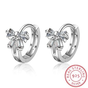 Cute 6 Styles Butterfly CZ 925 Sterling Silver Small Round Loop Huggies Hoop Earring For Kids Baby Girls Children Jewellery Aros