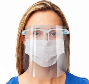 With Protection Reusable Face Masks Anti-oil Shield Transparent Anti-fog Mask Isolation Anti-splash Face Full Safty Frame Glasses pp2006 KI