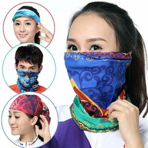 Unisexe visage magique Masque de cyclisme écharpe Neck Gaiter Biker Tube Bandanas solide Couleur Wristband Sport Outdoor Foulards Bonnet Cap 11 couleurs INS