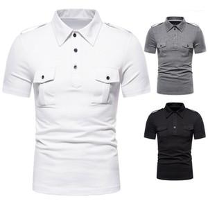 Slim Collar manga curta machos Polos de Moda de Nova Mens Polos Verão Casual Sports Tees Designer