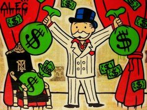 Alec Monopoly Banksy Graffiti arte Gangstar dinero Home Decor pintado a mano de la impresión de HD pintura al óleo sobre lienzo de arte cuadros de la pared de lona 200818