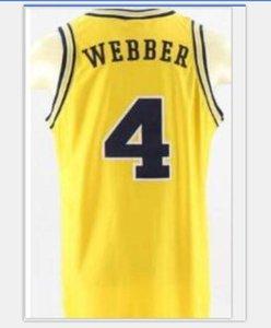 Coutume femmes hommes jeunes vintage # 4 Michigan State Chris Webber Unsigned Basketball Jersey Taille S-6XL ou sur mesure tout maillot de nom ou le numéro