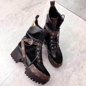 Louis Vuitton LV boots Luxe Femmes Bottes Impression Marque Martin Bottes Тарелка формный Botte De Neige Travail Botte Dame Blanche Bottes Дизайнер Hiver