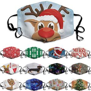 Рождество лица Маски Рождество Декорации для вечеринок пыле стирке и многоразовые маски 13 Стиль Дизайнер Маски XD23858
