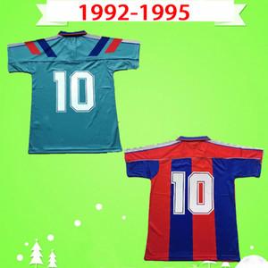 Barcelona basa jersey 1992 1993 1994 1995 Retro Futbol Gömlek 92 93 94 95 futbol forması Vintage ev uzakta turuncu klasik camiseta Romario Stoichkov Koeman Amor