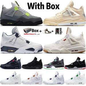 2020 Jumpman Новый 4 High OG Баскетбол обувь 4s Sail Неон Denim белый черный Cut OVO Splatter Columbia Кроссовки мужские Кроссовки Размер 13