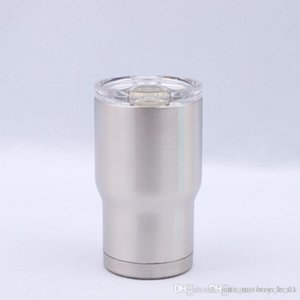14oz Beer Cups Stainless Steel Car Mugs Double Layer Sports Mugs With lid Car Cups Kids Milk Cups Outdoor Water Bottle