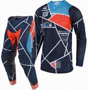 Nouvelle arrivée Motocross Costume hors route VTT MX Racing Jersey et pantalon Combo moto Dirt Bike Riding Gear Set 1vjE #