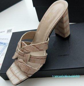 Hot Sale-2019 nouvelles femmes chaudes, luxe, design Tribute en cuir verni Sandales d'été Crossover Mules Femmes Hauts talons sandales 35-41 t10