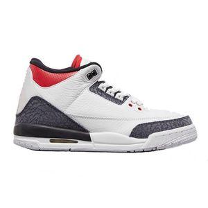 tres rojas de fuego de mezclilla 2020 zapatos rojos blancos de alta calidad azul de baloncesto superior Versión de fábrica para hombre de las zapatillas de deporte con la caja formadores