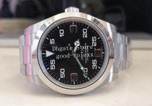 7 стиль 40 мм мужские автоматические часы Sapphire Crystal Asia 2813 Движение BP Factory 116900 Сталь воздушного короля мужчина Смотреть превосходные наручные часы