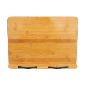 Hollow Out Textbooks Reading Rest Book Stand Cookbook Bookends Bamboo Holder