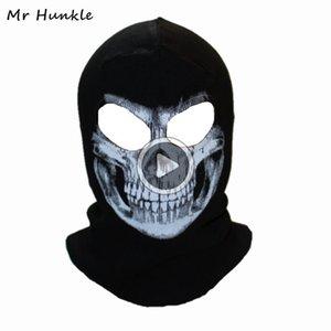 Crânio inverno Mask Balaclava Gorros Chapéus Homens Crânio do fantasma completa Fa fora da porta capa Beanie Gorros Hombre Casquette