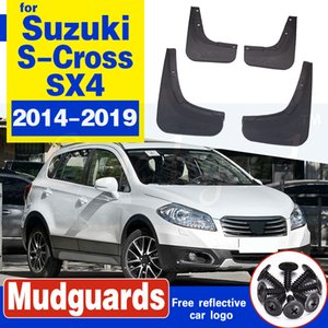 4pcs Car Mudguards para Suzuki S-Cross SX4 2014 ~ 2019 Mudflap Fender Fender Flaps Guard Splash Flap Accesorios 2015 2016 2017 2018 2018