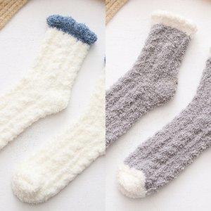 Torça coral casa de inverno engrossar toalha piso board sono toalha de lã das mulheres meias meias L5kQA