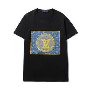 20ss hombre diseñador de camisetas de manga corta los hombres gg camiseta blanca superior camisa de la raya de fondo redondo medio cuello de manga ff ropa de moda camiseta