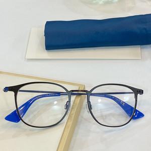 Nueva receta marco de las lentes de las lentes de vidrios ópticos 8610 el marco redondo de metal retro lente transparente se puede hacer con receta