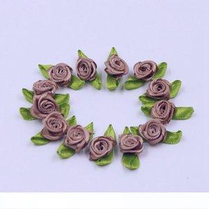 Soie Bow-noeud Mini Rosette pour la maison de soirée de mariage Ruban gâteau Décoration Vêtements Fournitures de scrapbooking bricolage bricolage