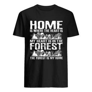 Casa è dove il cuore shirt è il mio cuore è nella foresta
