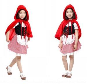 il dramma dei bambini VKFd8 Halloween Red Little cosplaywear abbigliamento Red Little Hat Cappuccetto vestito carattere costume G-0180 abito