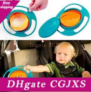 3 색 아기 도착 높은 품질 어린 아이 아기 장난감 보편적 인 360 회전 유출하는 서류 볼 요리 2016 새로운 UFO가 최고의 볼 B001