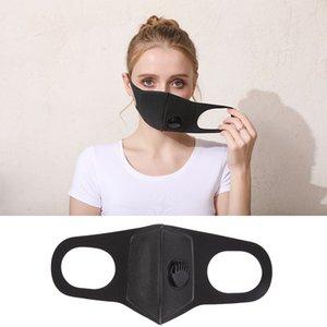 Máscara de diseñador Mascarilla Black Filtro con reusiable resuable FA FA FA Válvula desechable Shields Lavable PPE Mask Mask Mask Máscaras LRSNG