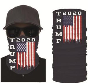 Trump Maskeleri Amerikan Seçim Baskı Türban Sihirli Güneş Krural Kerşehef Kafası Dökye Tavucu Açık Yıkanabilir Kullanımlık Maske DHD678